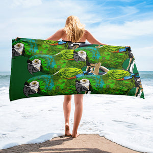 Sublimated Towel: Parrot