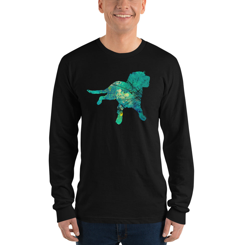 Unisex Long Sleeve Shirt: Labrador Retriever Silhouette