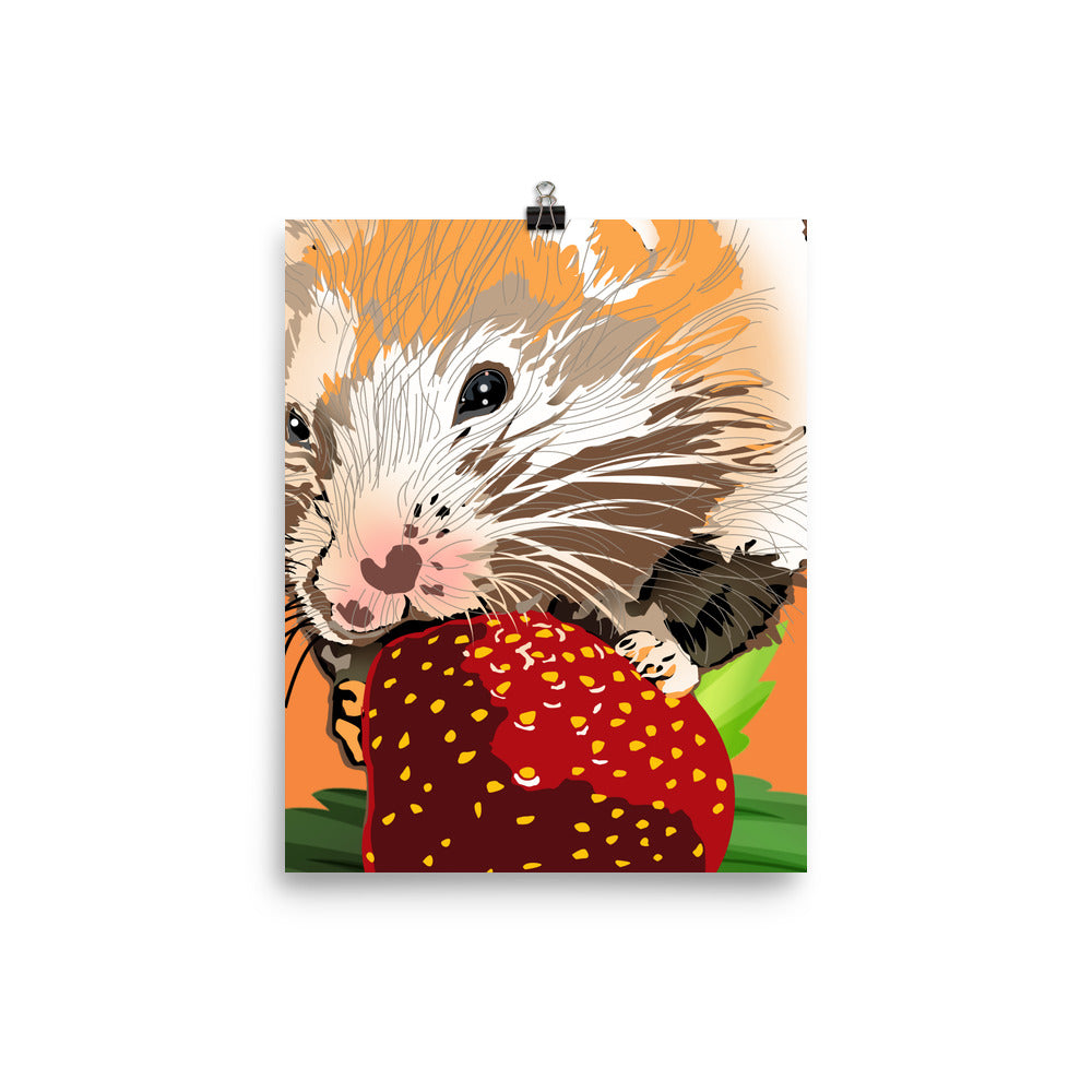 Enhanced Matte Paper Poster (in): Hamster