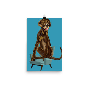 Enhanced Matte Paper Poster (in): Great Dane