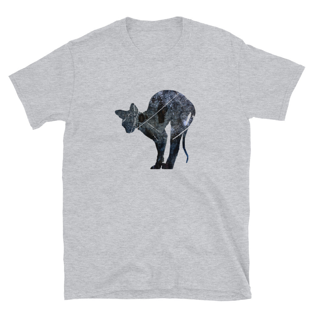 Unisex Basic Softstyle T-Shirt: Sphynx Cat Silhouette