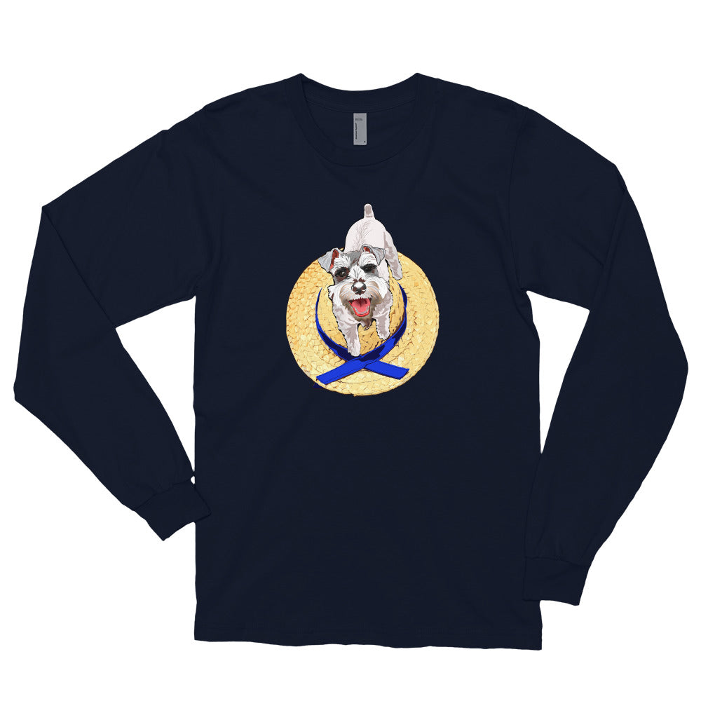Unisex Long Sleeve Shirt: Miniature Schnauzer