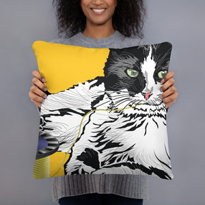 All-Over Print Basic Pillow: Barn Cat
