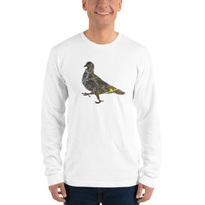 Unisex Long Sleeve Shirt: Pigeon Silhouette