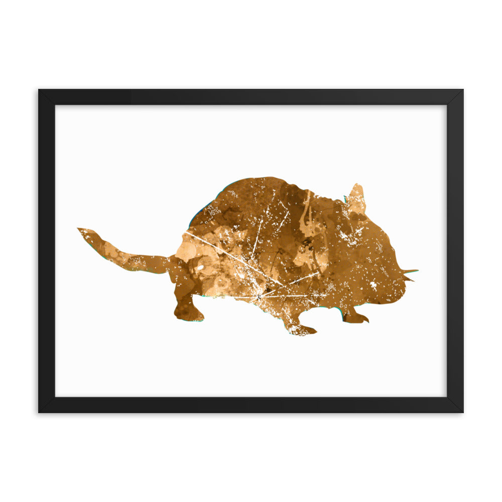 Enhanced Matte Paper Framed Poster (in): Hamster Silhouette