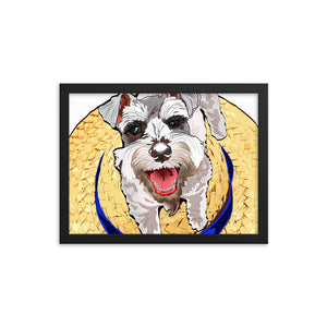 Enhanced Matte Paper Framed Poster (in): Miniature Schnauzer