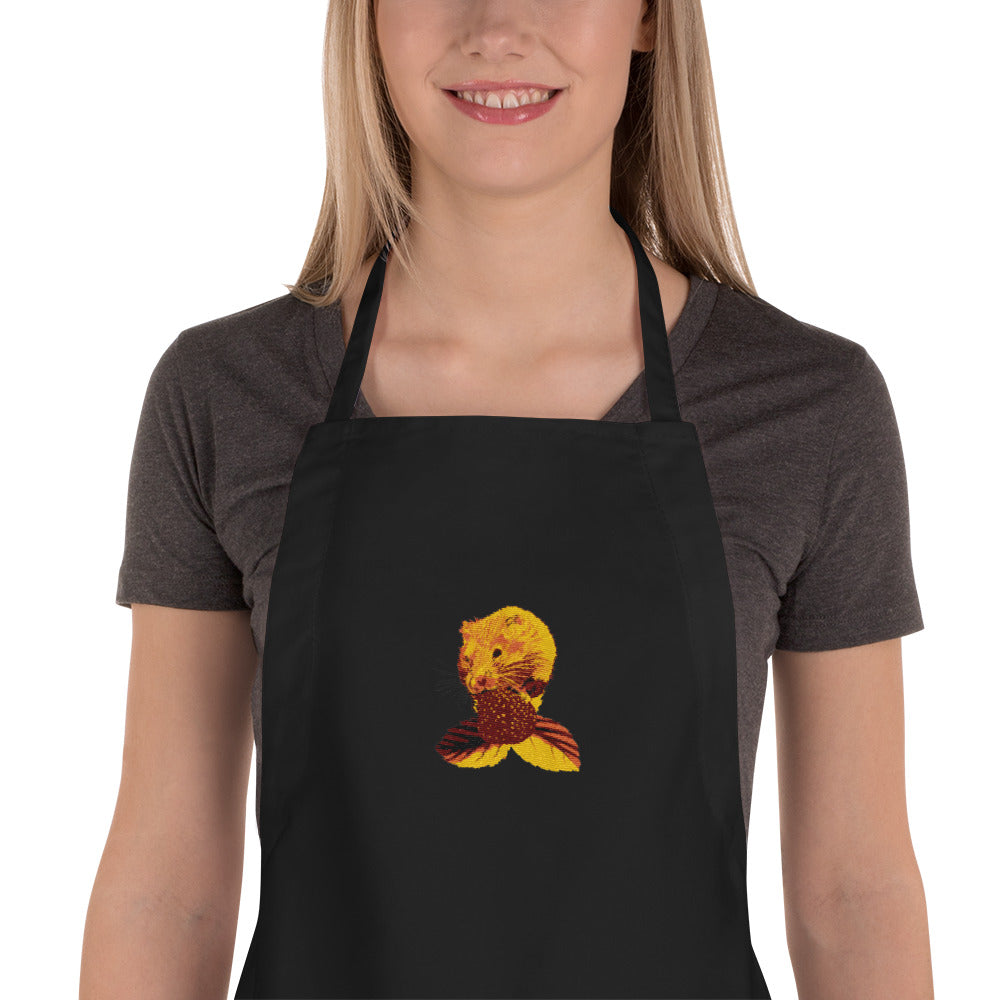 Embroidered Apron: Hamster