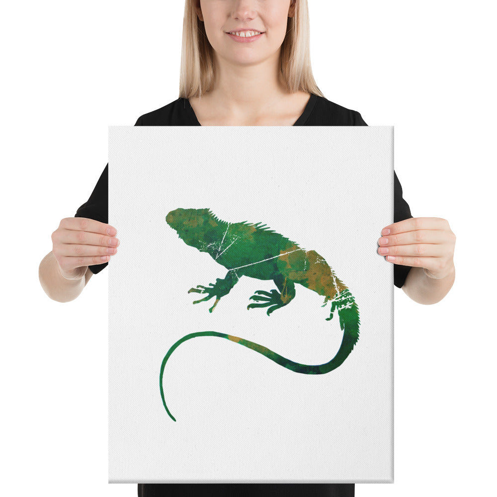 Canvas (in): Iguana Silhouette