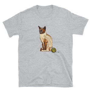 Unisex Basic Softstyle T-Shirt: Siamese Cat