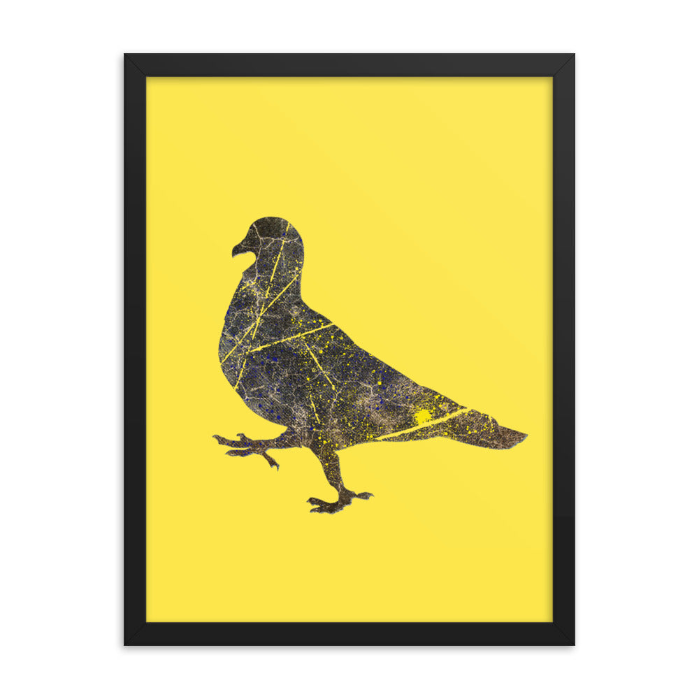 Enhanced Matte Paper Framed Poster (in): Pigeon Silhouette
