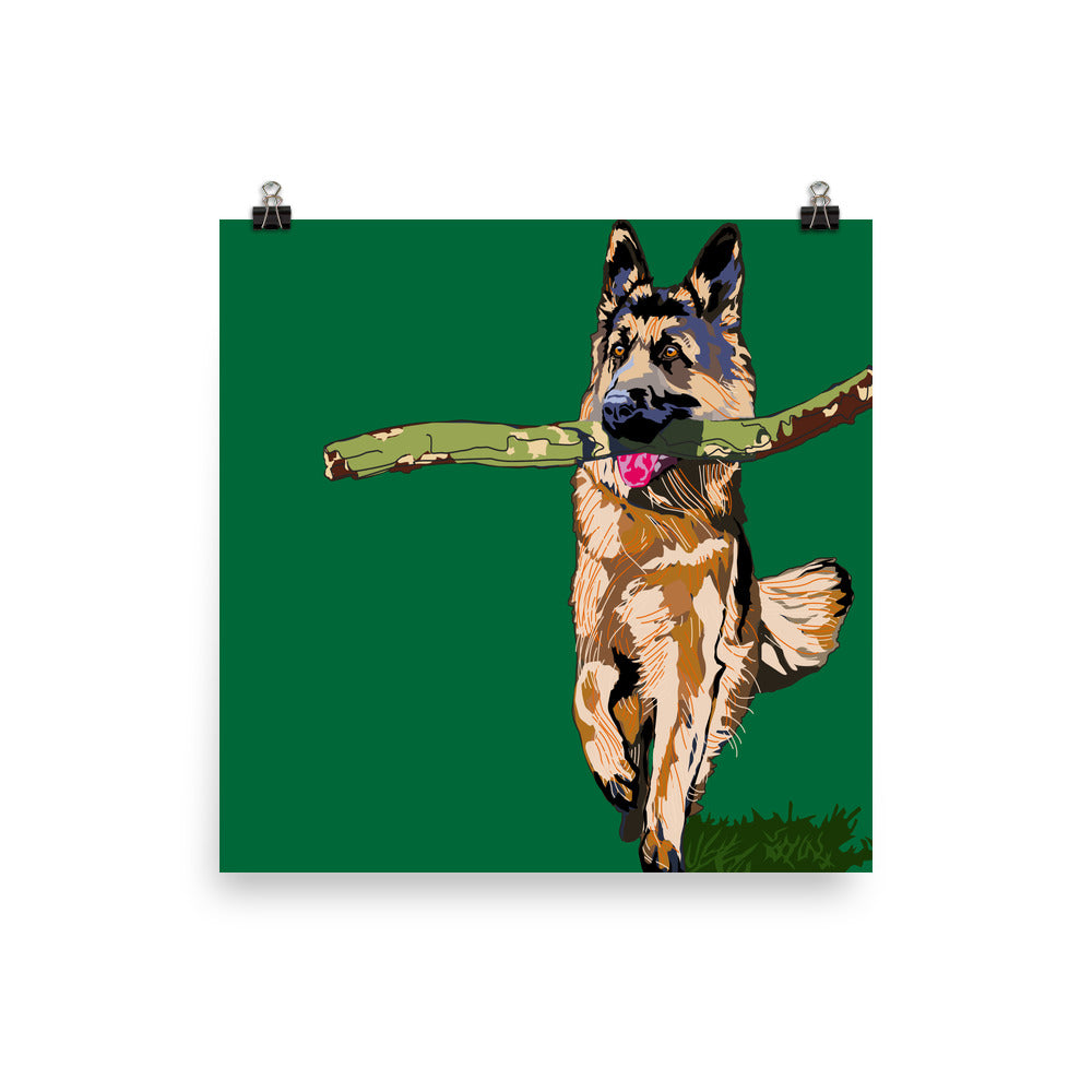 Enhanced Matte Paper Poster (in): German Shepherd