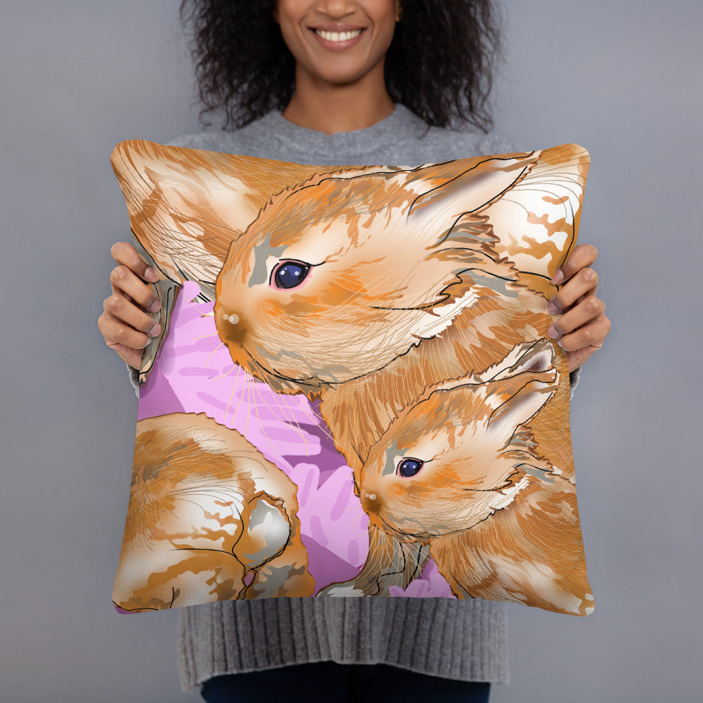All-Over Print Basic Pillow: Rabbit