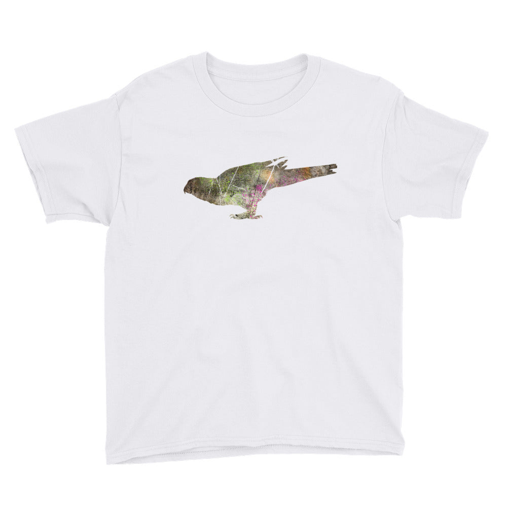 Youth Lightweight T-Shirt: Parrot Silhouette