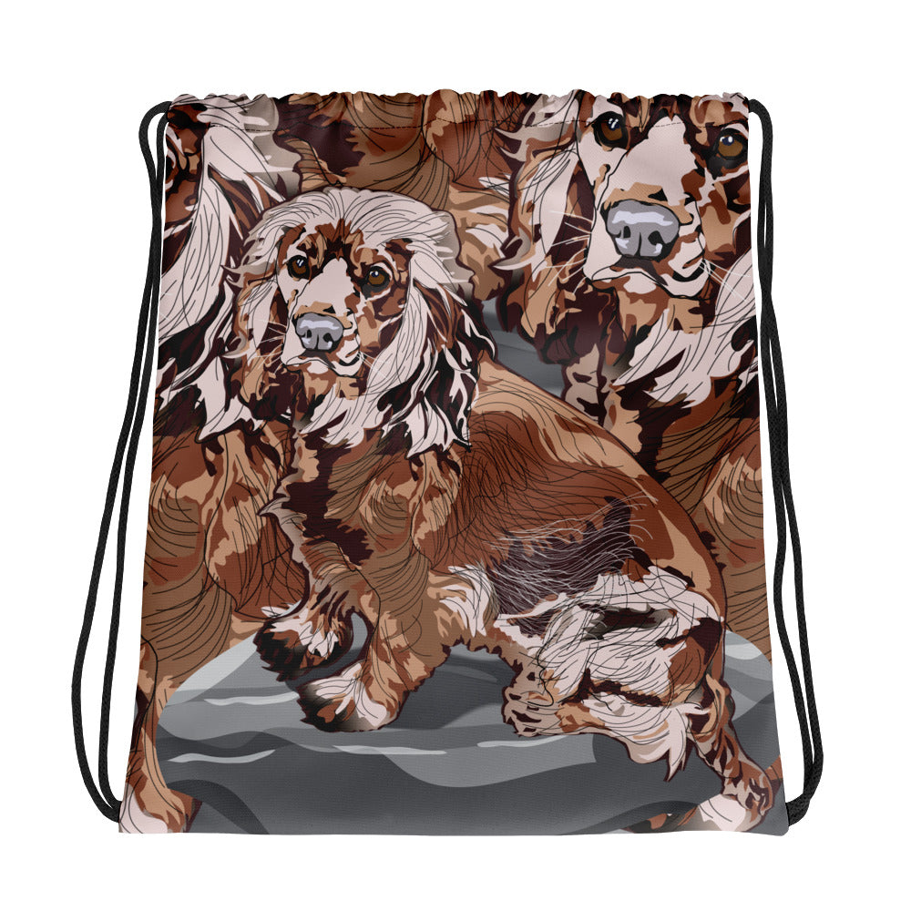 All-Over Print Drawstring Bag: Cocker Spaniel