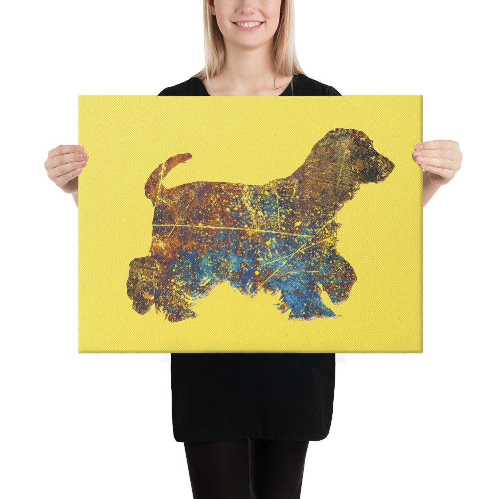 Canvas (in): Cocker Spaniel Silhouette