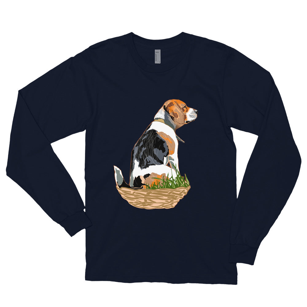 Unisex Long Sleeve Shirt: Beagle