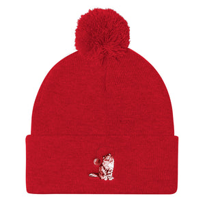 Pom Pom Beanie: Persian Cat