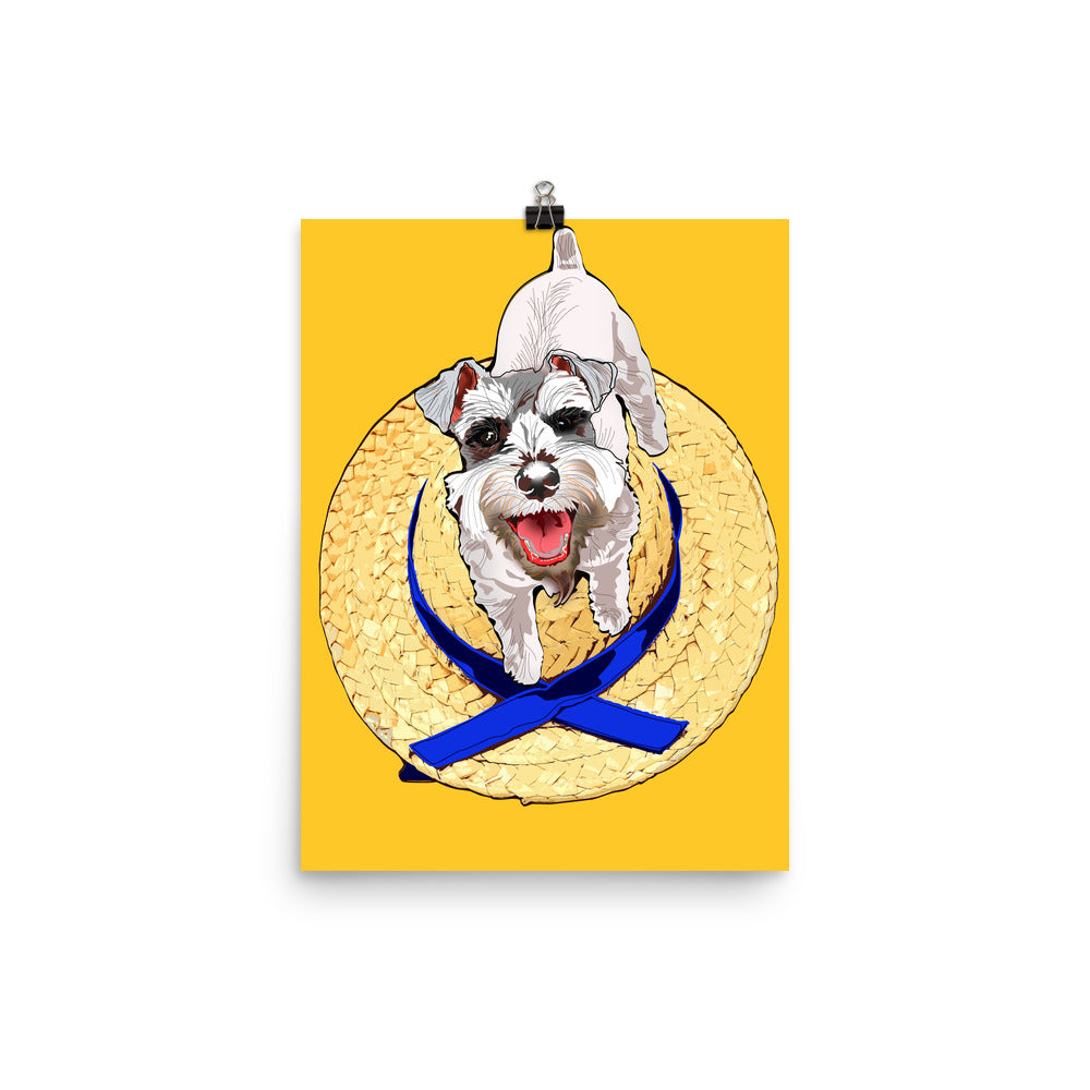 Enhanced Matte Paper Poster (in): Miniature Schnauzer