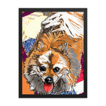Enhanced Matte Paper Framed Poster (in): Pomeranian