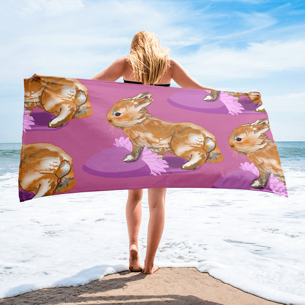 Sublimated Towel: Rabbit