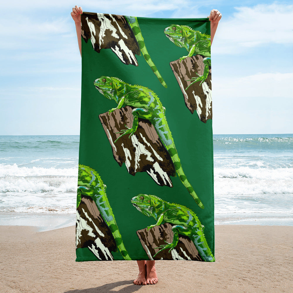 Sublimated Towel: Iguana