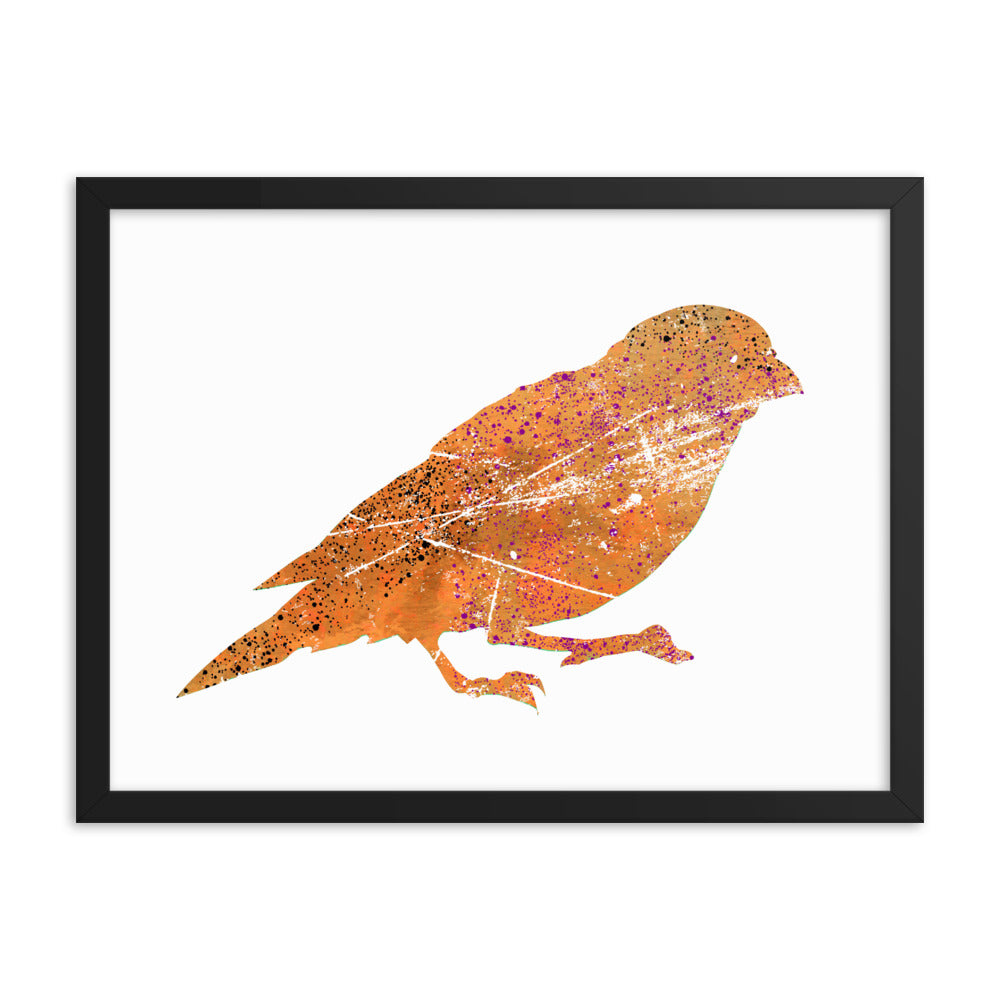 Enhanced Matte Paper Framed Poster (in): Canary Silhouette