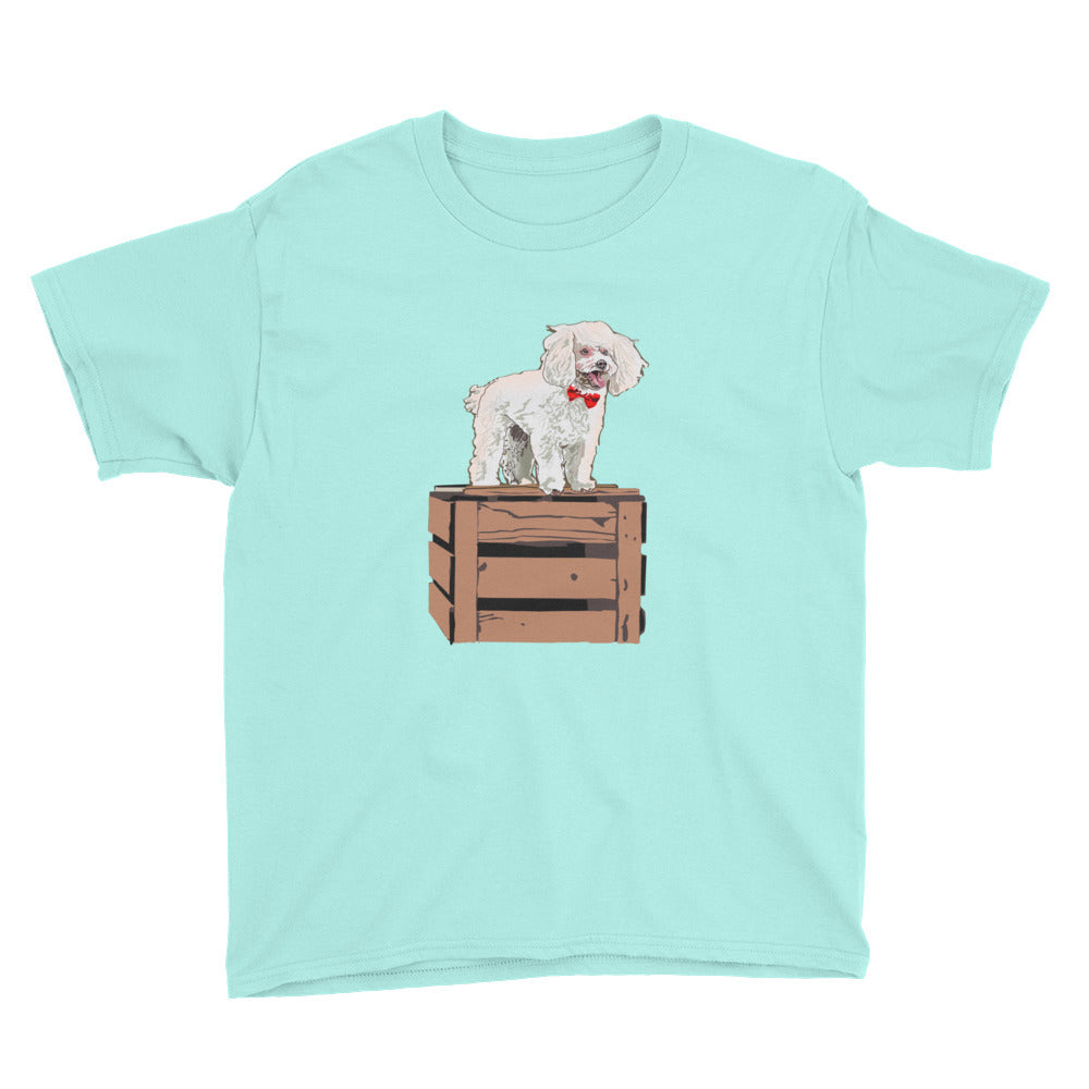 Youth Lightweight T-Shirt: Poodle