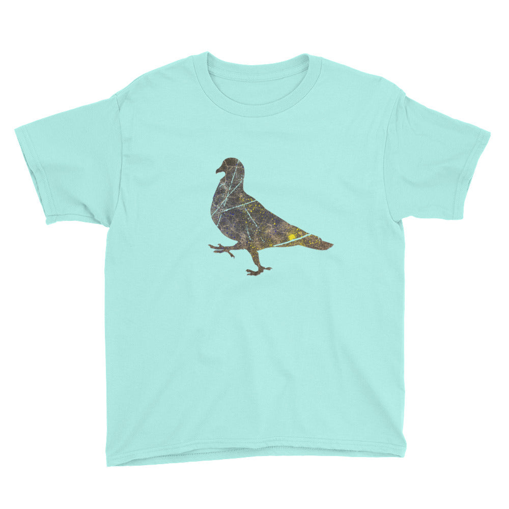 Youth Lightweight T-Shirt: Pigeon Silhouette