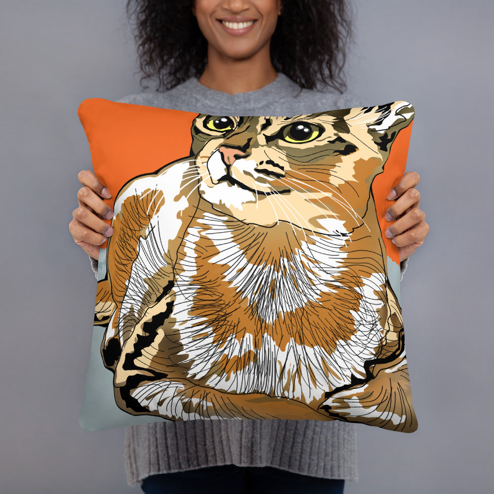 All-Over Print Basic Pillow: Abyssinian Cat