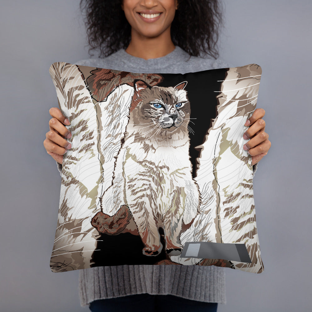 All-Over Print Basic Pillow: Birman Cat
