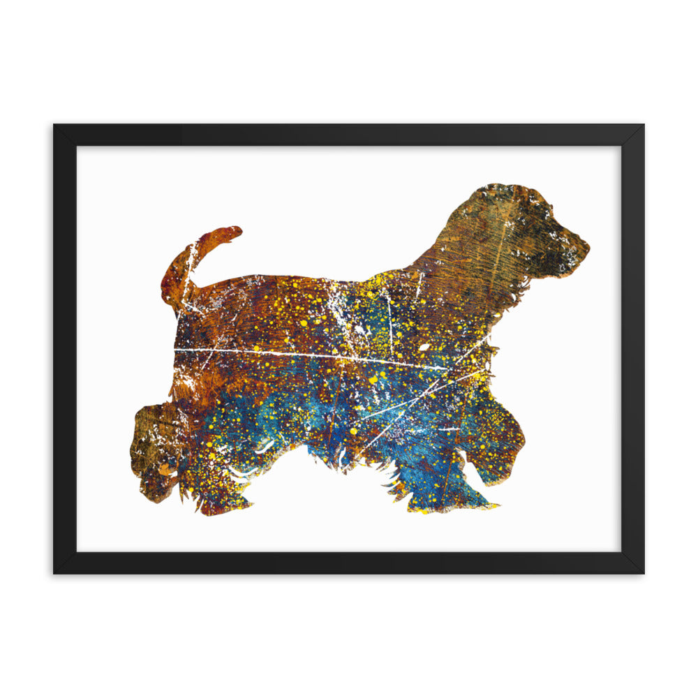 Enhanced Matte Paper Framed Poster (in): Cocker Spaniel Silhouette