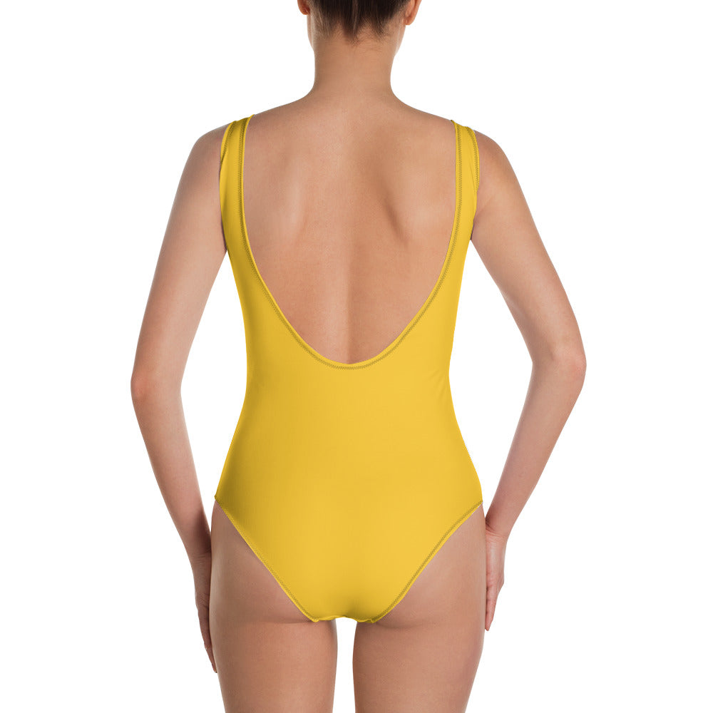 All-Over Print One-Piece Swimsuit: Cockatoo