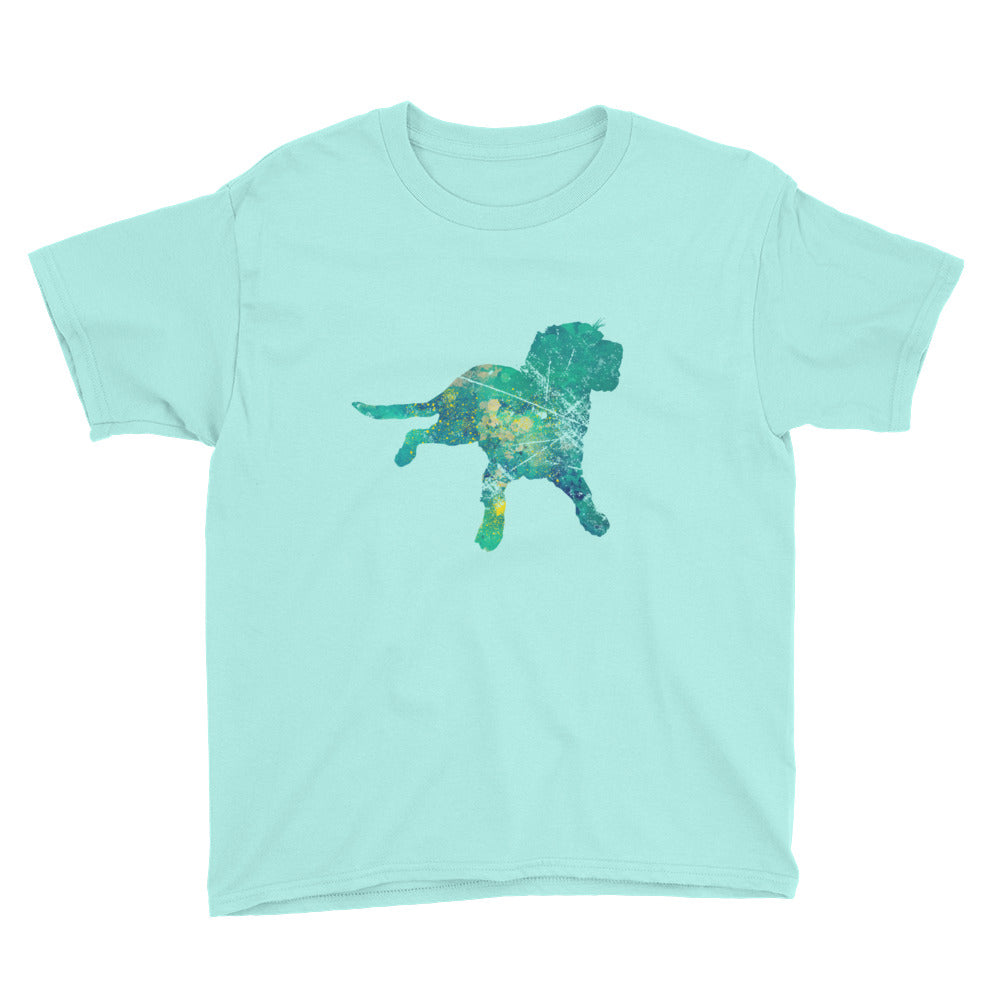 Youth Lightweight T-Shirt: Labrador Retriever Silhouette