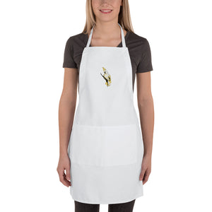 Embroidered Apron: Cockatoo