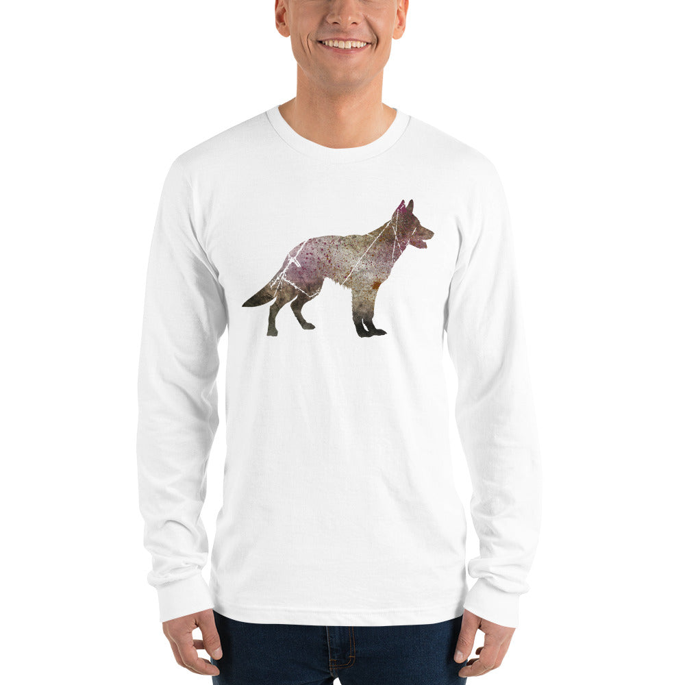 Unisex Long Sleeve Shirt: German Shepherd Silhouette