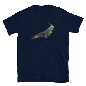 Unisex Basic Softstyle T-Shirt: Cockatiel Silhouette