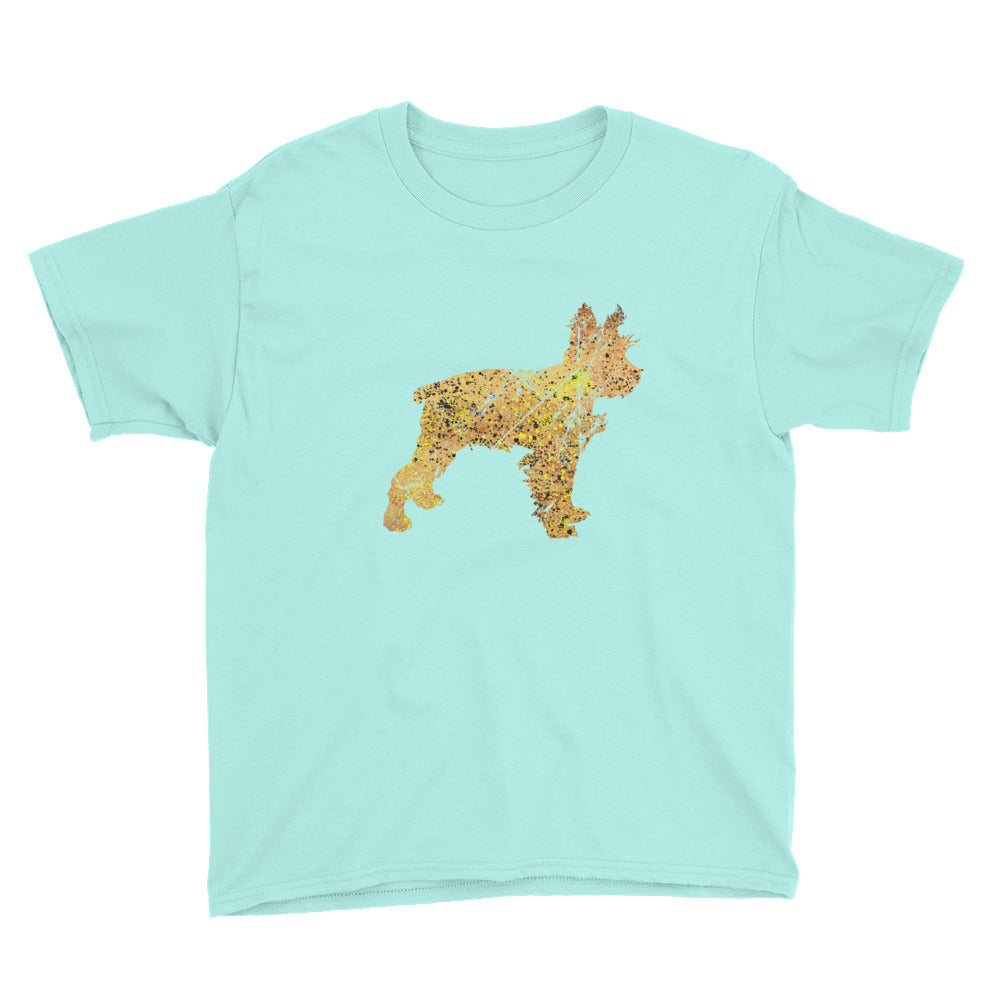 Youth Lightweight T-Shirt: Miniature Schnauzer Silhouette
