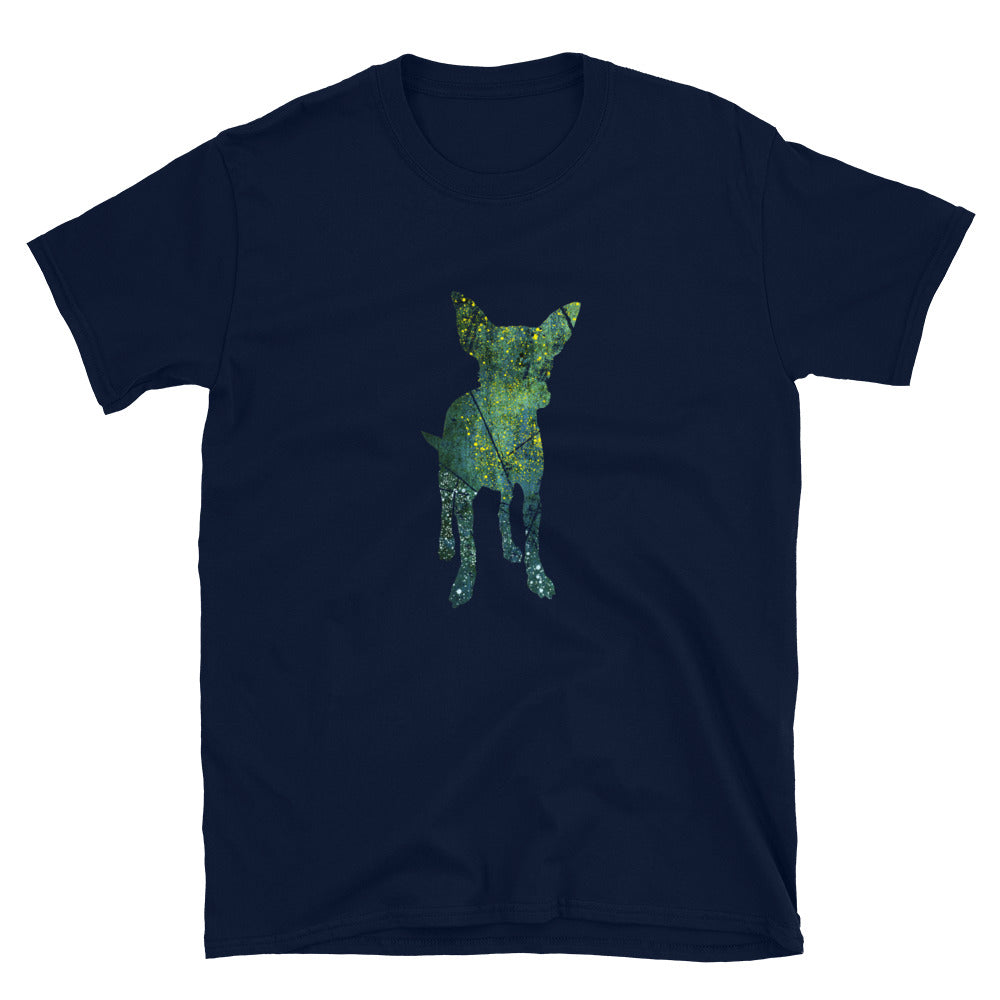 Unisex Basic Softstyle T-Shirt: Chihuahua Silhouette