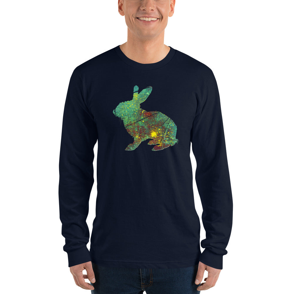 Unisex Long Sleeve Shirt: Rabbit Silhouette