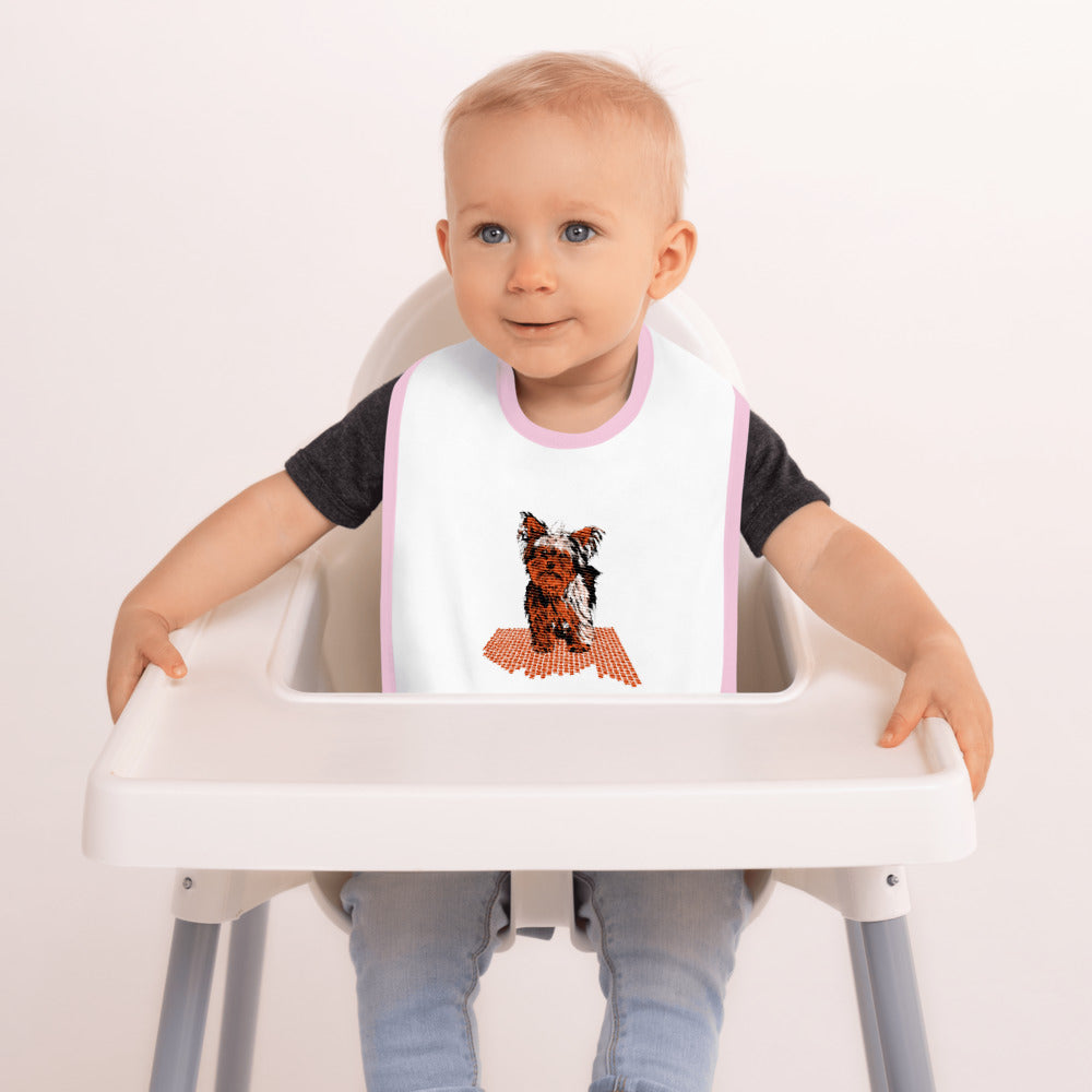 Embroidered Baby Bib: Yorkshire Terrier
