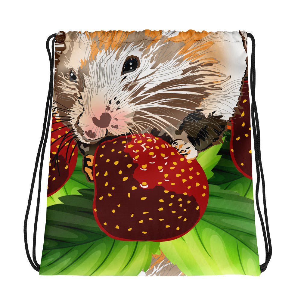 All-Over Print Drawstring Bag: Hamster