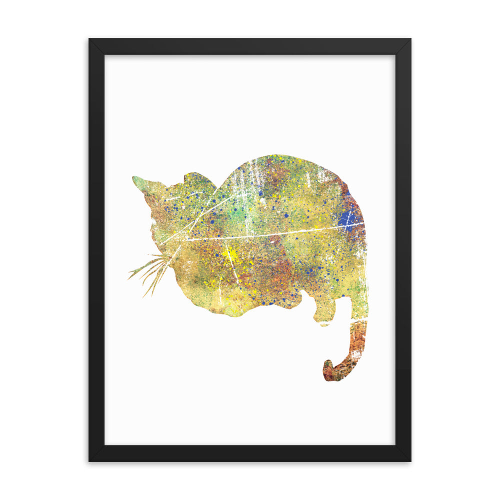 Enhanced Matte Paper Framed Poster (in): Bengal Cat Silhouette