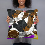 All-Over Print Basic Pillow: Basset Hound