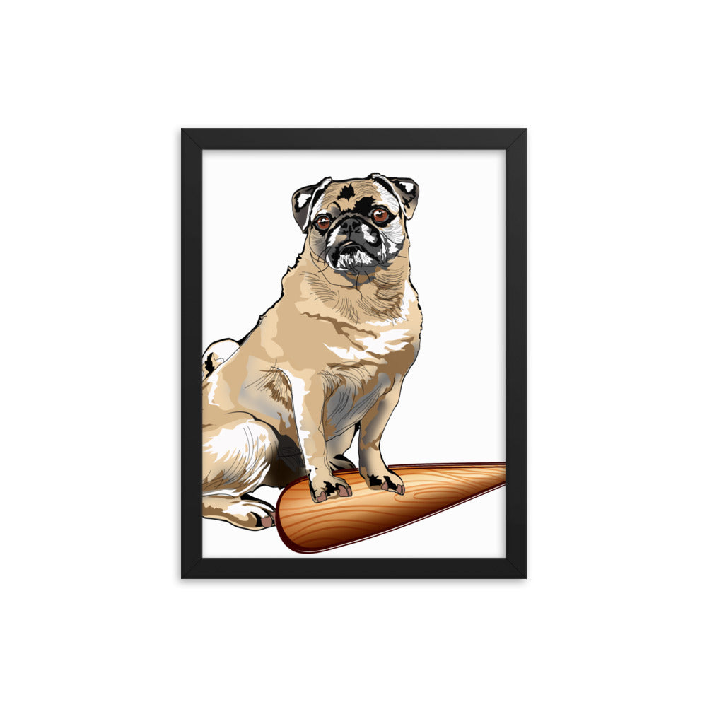 Enhanced Matte Paper Framed Poster (in): Pug