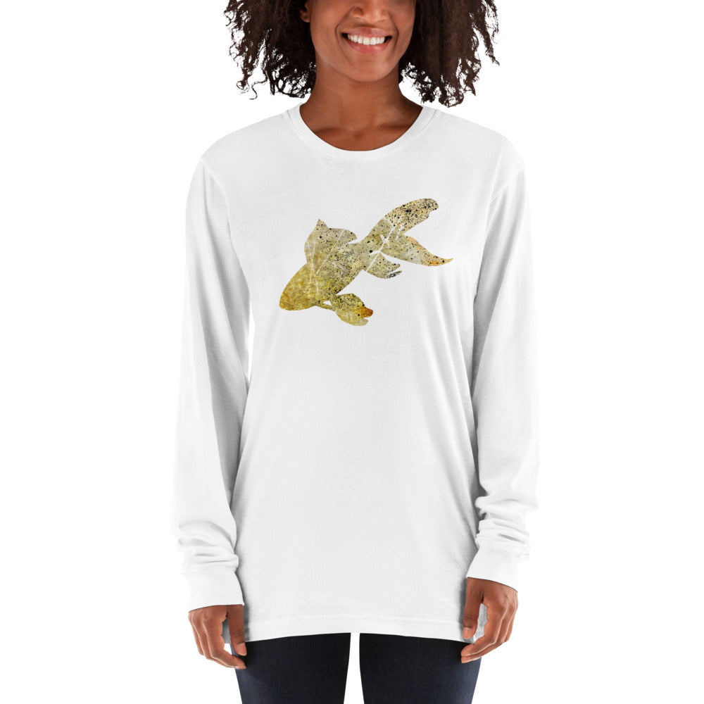 Unisex Long Sleeve Shirt: Goldfish Silhouette