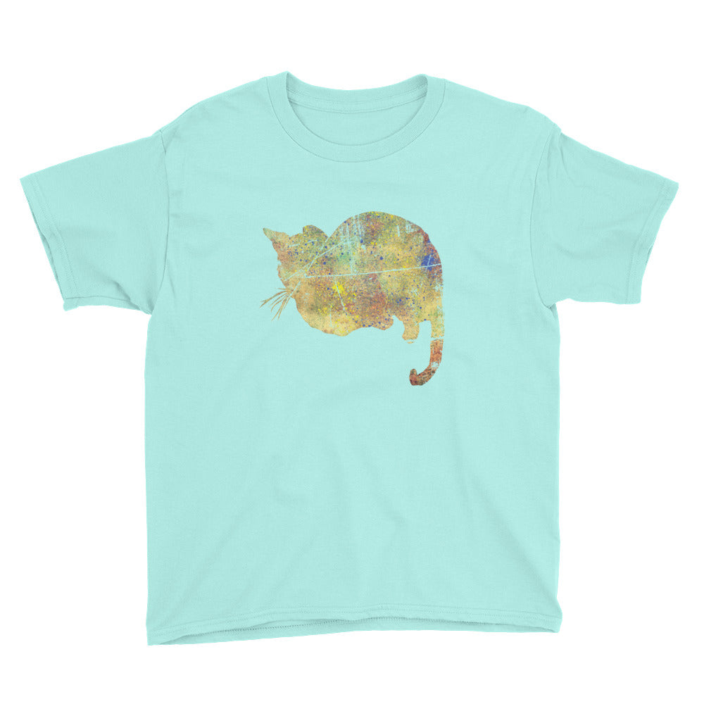 Youth Lightweight T-Shirt: Bengal Cat Silhouette