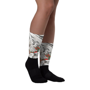 Black Foot Sublimated Socks: Ragdoll Cat