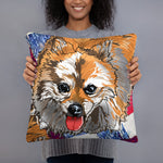 All-Over Print Basic Pillow: Pomeranian