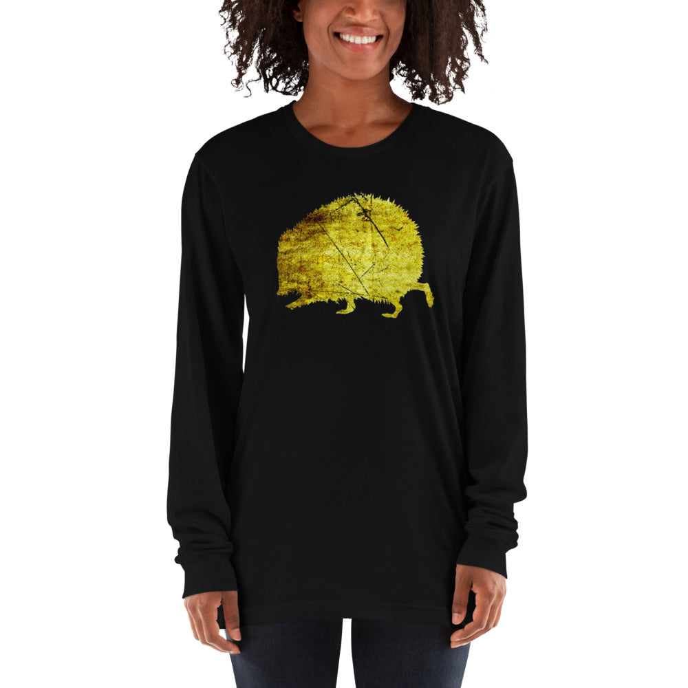 Unisex Long Sleeve Shirt: Hedgehog Silhouette