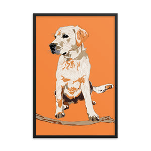 Enhanced Matte Paper Framed Poster (in): Labrador Retriever
